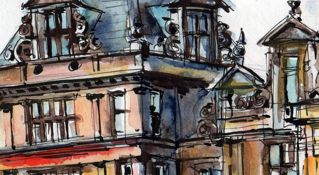 Sketching Crossley Heath School Halifax In Pen Amp Watercolour