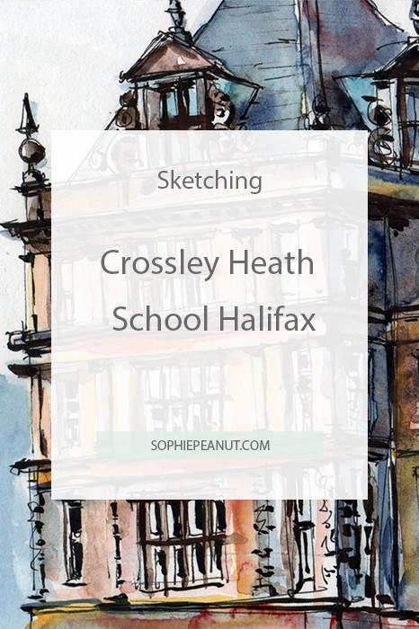 Sketch of Crossley Heath School Halifax by Sophie Peanut