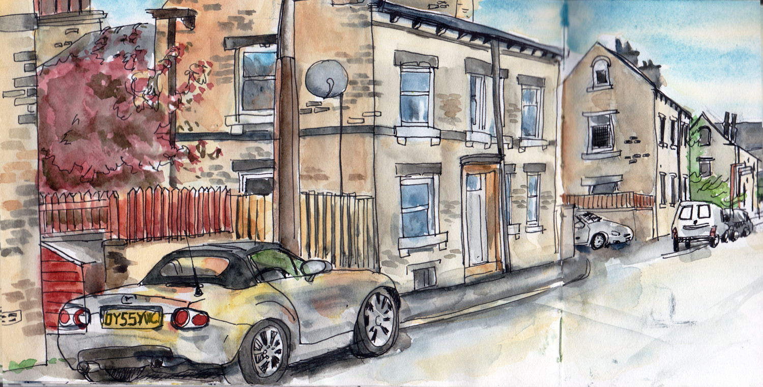 Pen and watercolour drawing by Sophie Peanut