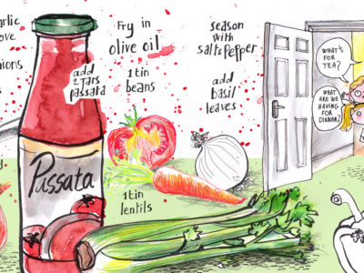 Veggie Pasta Illustrated Recipe