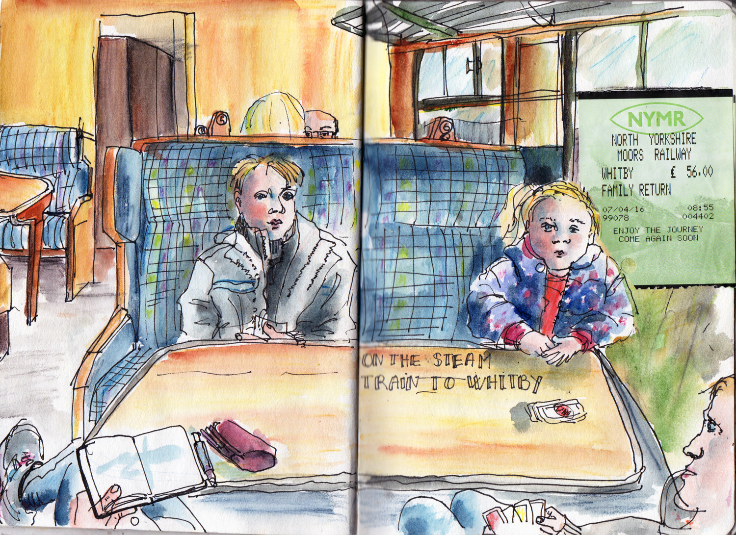 Steam Train to Whitby - Sketch by Sophie Peanut