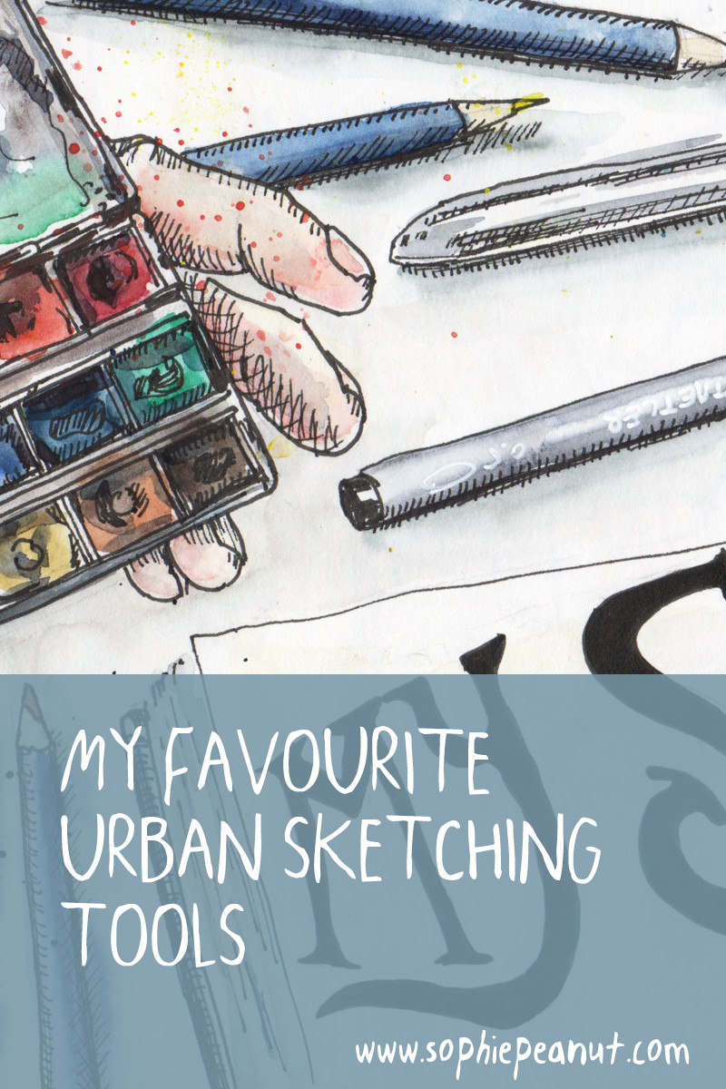 My Favourite Urban Sketching Tools by Sophie Peanut