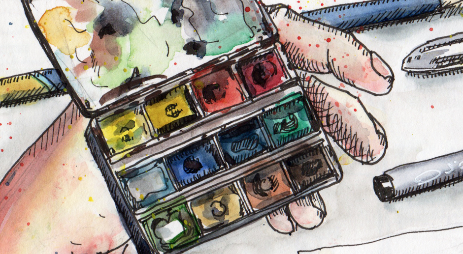 My Favourite Urban Sketching Tools (and Why Tools Don't Really Matter)