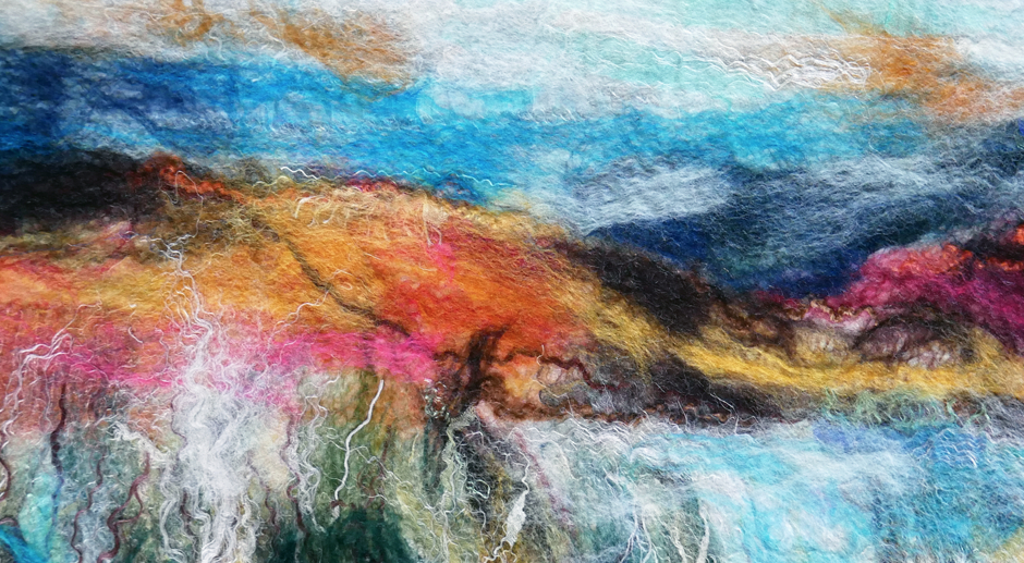 Felted Landscapes – Learning a New Technique