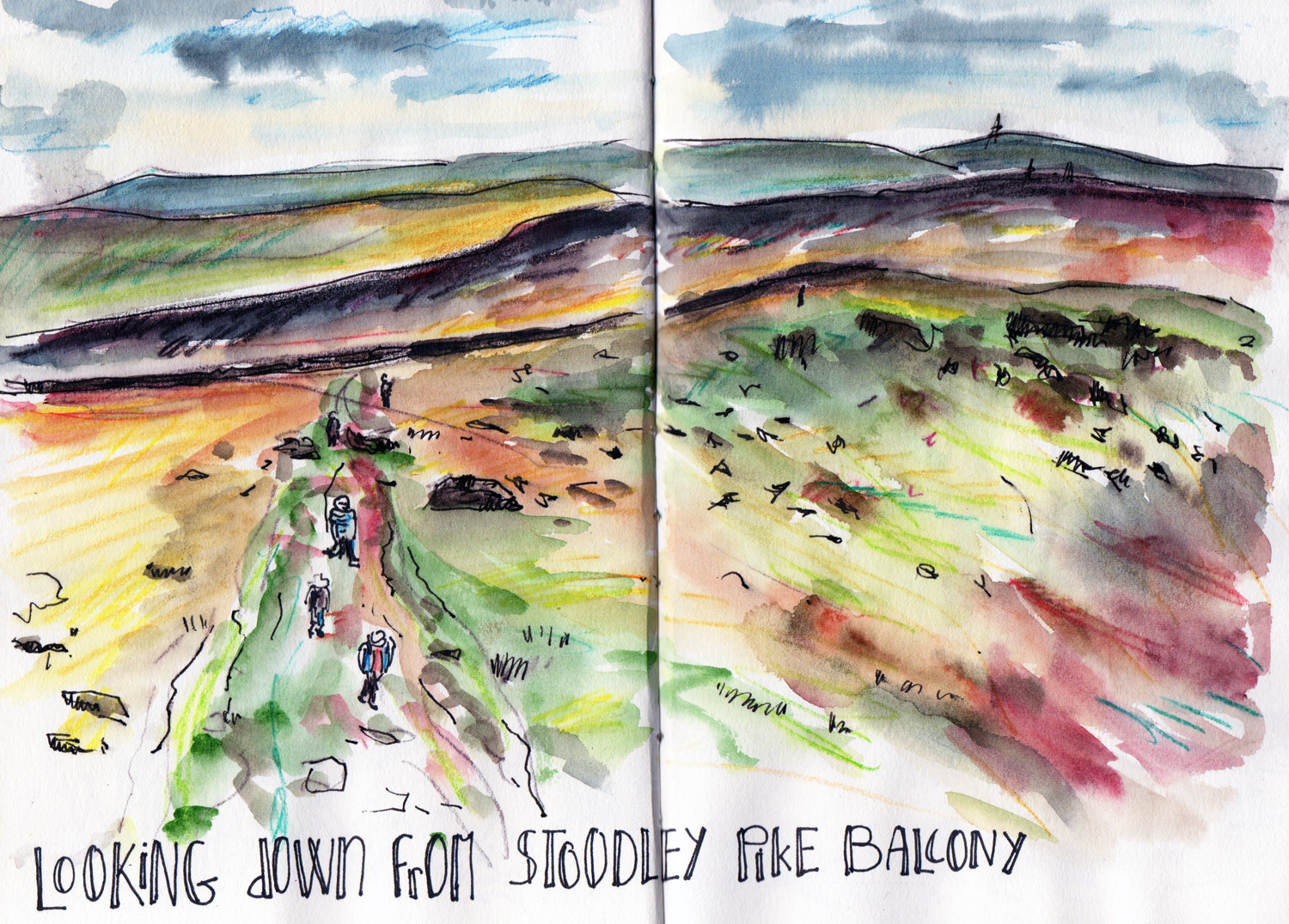 View from Stoodley Pike Todmorden by Sophie Peanut