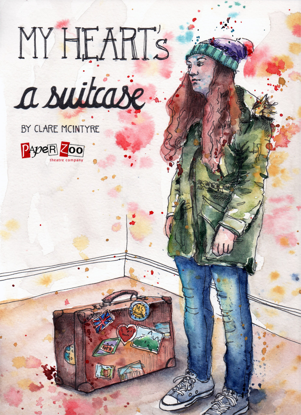 My Heart's a Suitcase by Clare McIntyre - Poster Illustration By Sophie Peanut