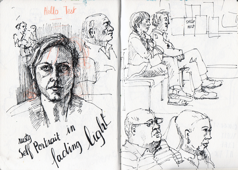 Quick sketches in Ink - Sophie Peanut