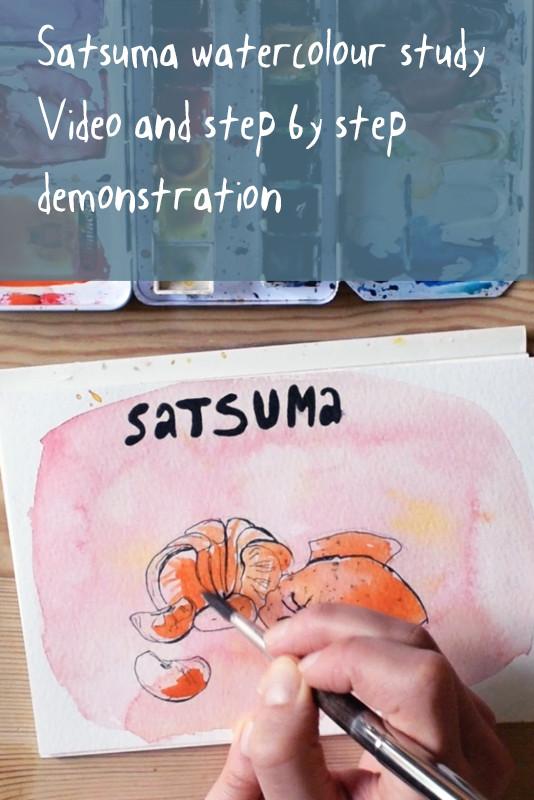Satsuma Watercolour Study Demonstration