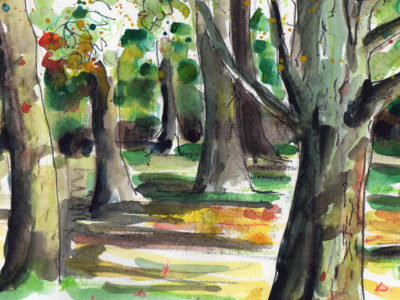 Painting Autumn Scenes in Watercolour by Sophie Peanut