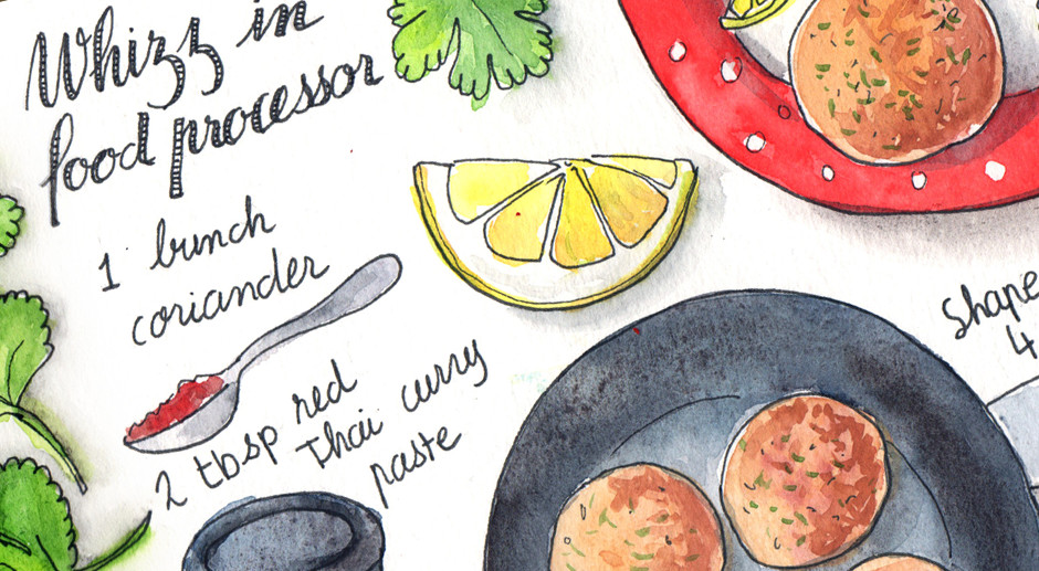 Illustrated Recipe in Get Spicy Book