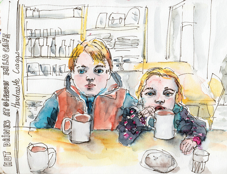 People Cafe Sketch - Sophie Peanut