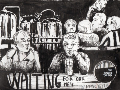 Ink sketch by Sophie Peanut