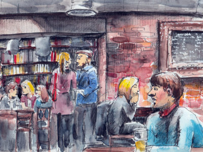 Pub Sketch by Sophie Peanut