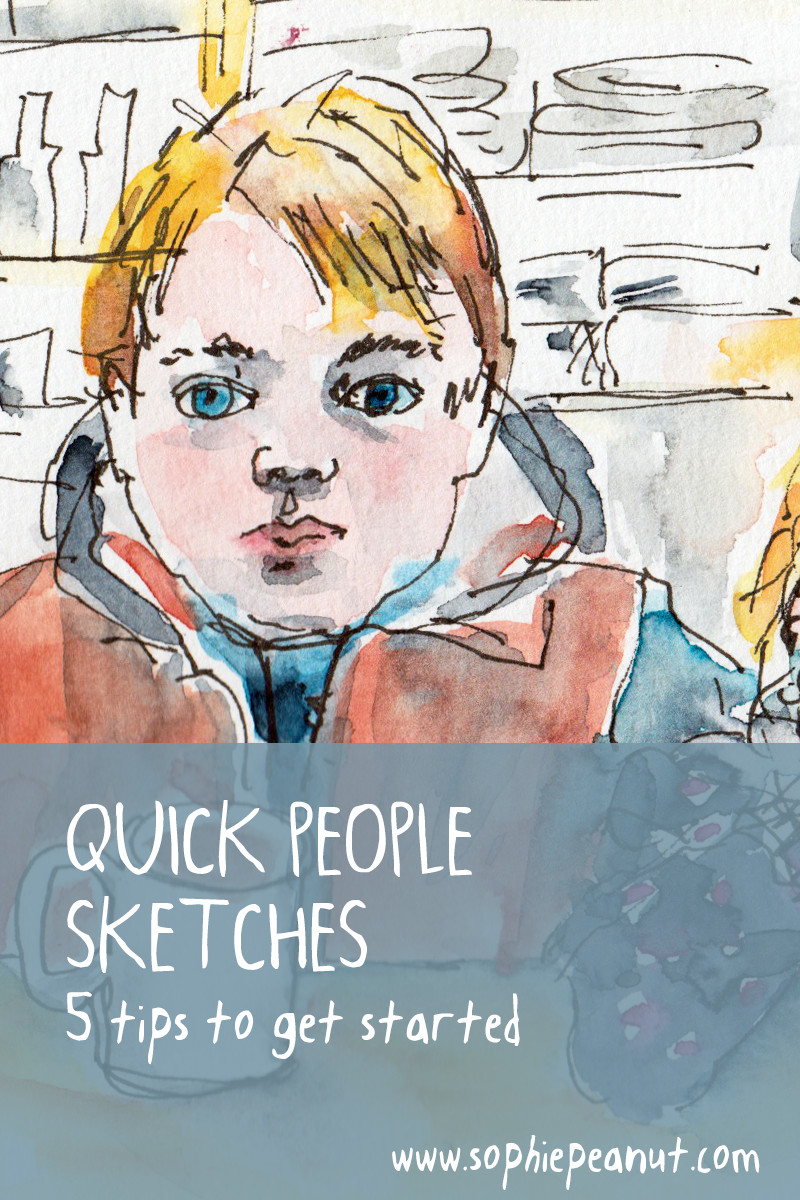 Quick People Sketches - 5 tips o get started by Sophie Peanut