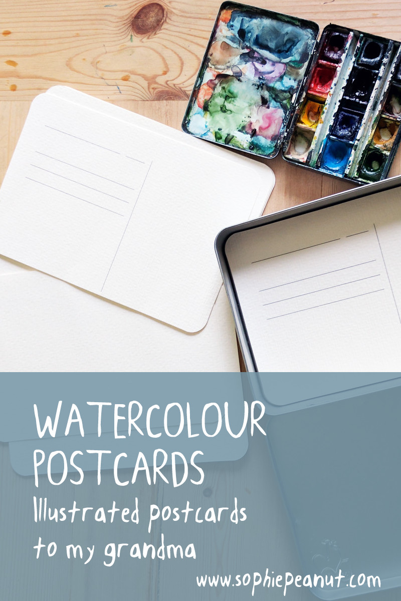 Watercolour Postcards to My Grandma by Sophie Peanut