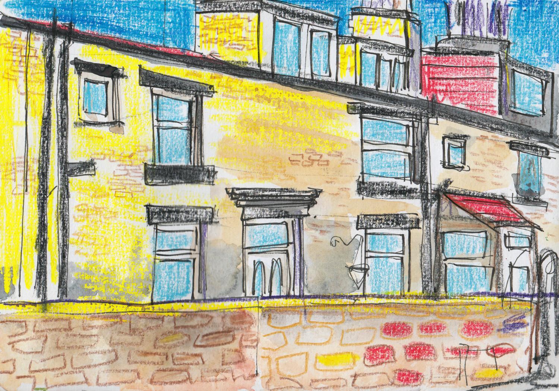 Crazy colours experiment - Sketch idea by Sophie Baxter