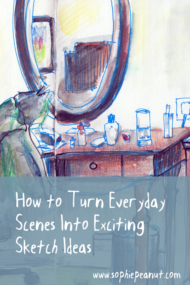 How to turn everyday scenes into exciting sketch ideas by Sophie Peanut