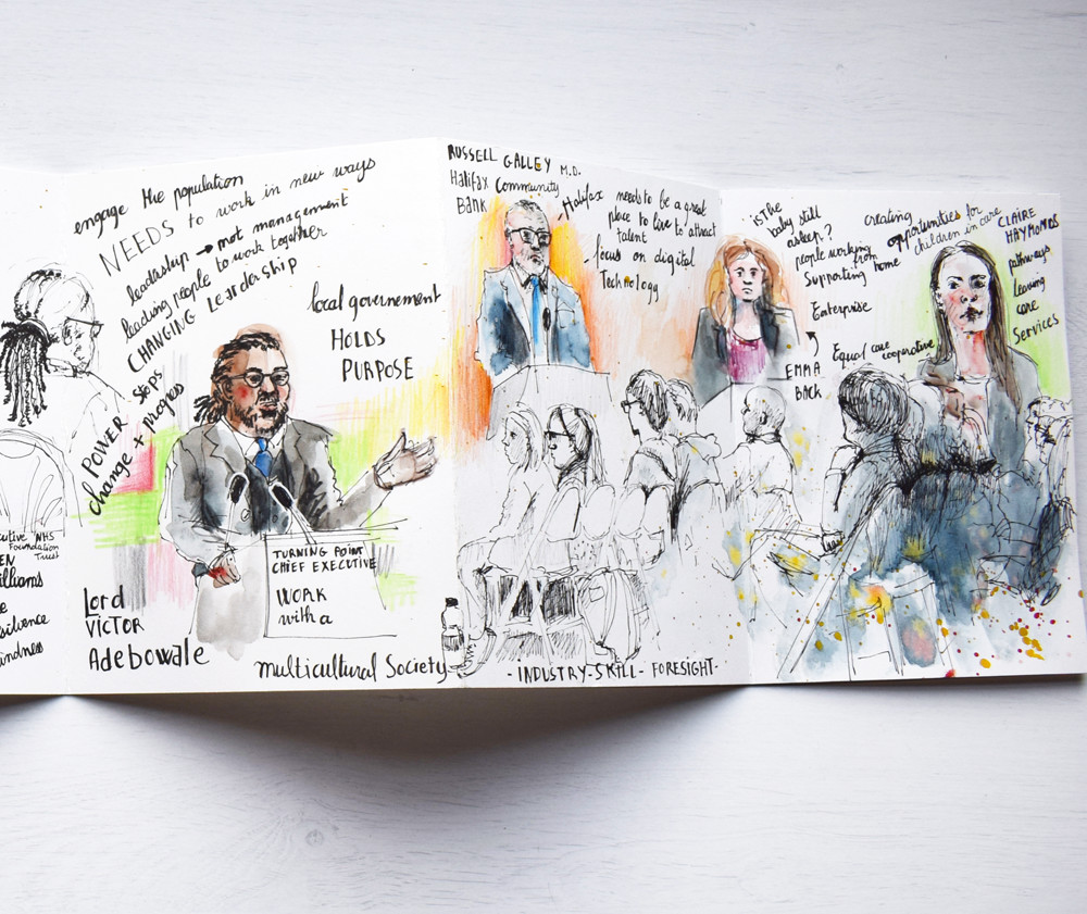 Reportage Sketch of Conference by Sophie Peanut