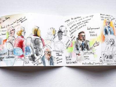 State of Calderdale 2017 - Reportage Drawing of the Conference