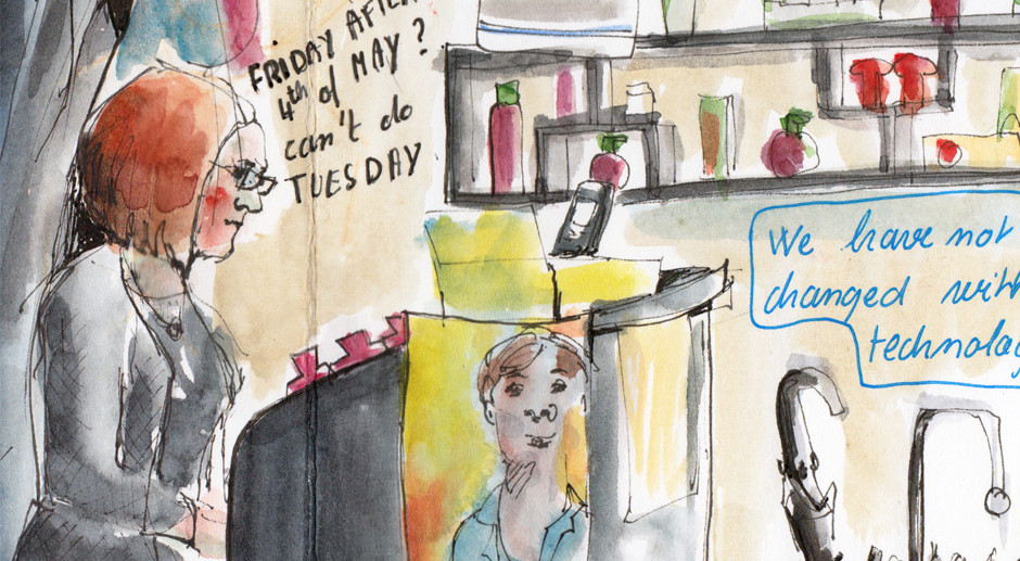 A Day in The Life of a Hairdresser – Reportage Illustration
