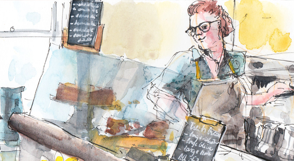 A Day At The Cafe – Drawing The Smell Of Coffee
