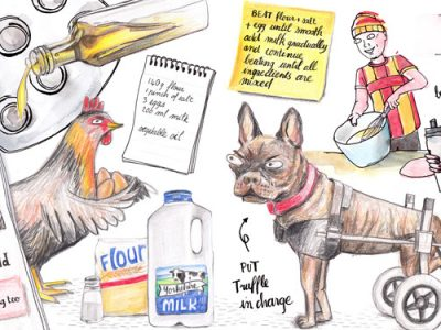 Yorkshire Puddings Recipe - Illustrated by Sophie Peanut
