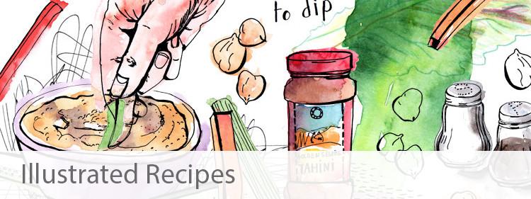 Illustrated Recipe Portfolio by Sophie Peanut
