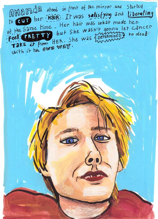 Amanda - Gouache portrait and lettering by Sophie Peanut