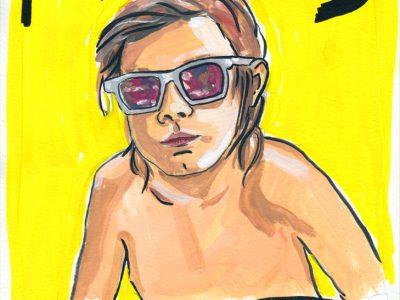 Famous - Gouache portrait by Sophie Peanut