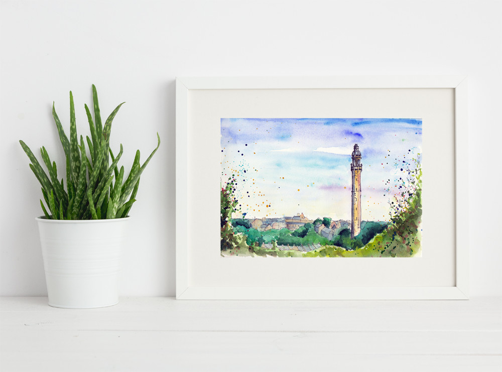 Art print of Wainehouse Tower Halifax by Sophie Peanut