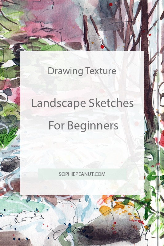 Drawing Texture - Landscape sketching for beginners