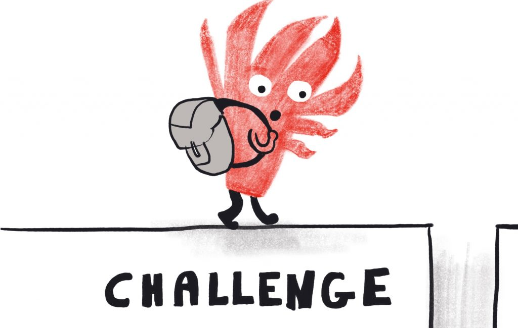 Challenge - Invisible skills Illustration by Sophie Peanut