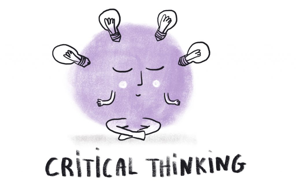 Invisible skills - critical thinking Illustration by Sophie Peanut