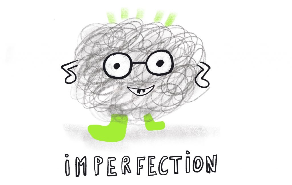 Why is art education important - dealing with imperfection illustration by Sophie Peanut