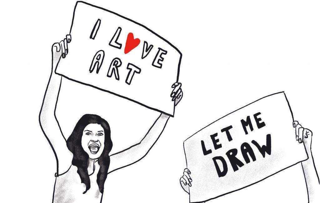 Let me draw - illustration by Sophie Peanut