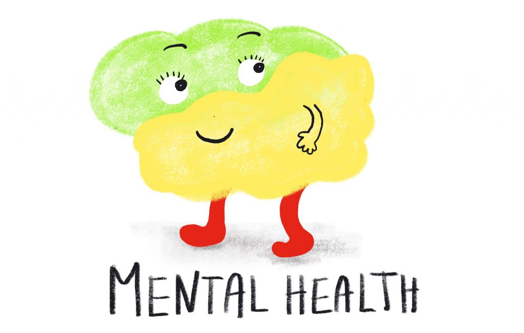 Mental Health Illustration by Sophie Peanut (Benefits of art education)