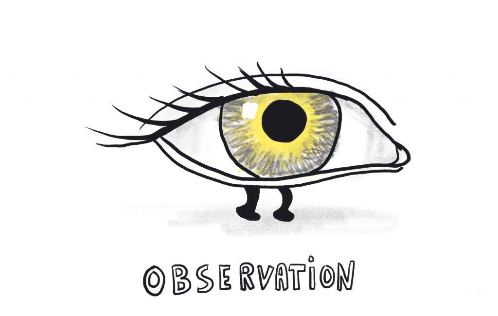 Invisible skills illustration. Observation by Sophie Peanut