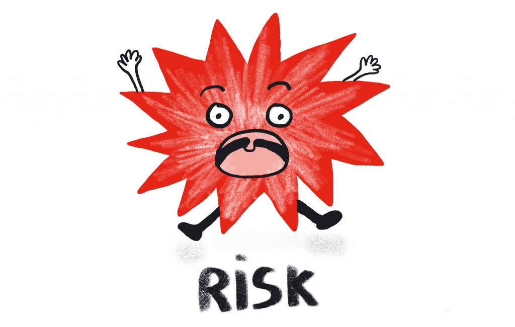 Why is art important in Education - Risk Icon - Illustration by Sophie Peanut