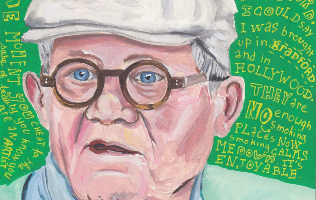 David Hockney Portrait by Sophie Peanut - Lockdown Art