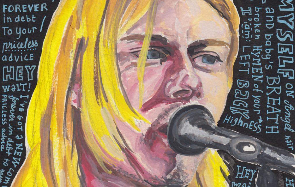 Kurt Cobain Portrait by Sophie Peanut