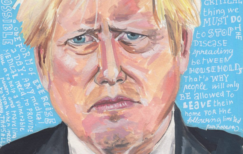 Boris Johnson - Lockdown Art Daily Portraits by Sophie Peanut