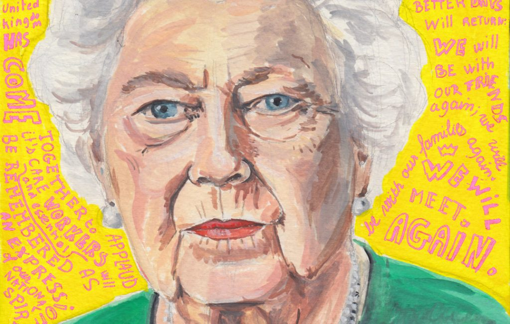 The Queen - Lockdown Art Daily Portraits by Sophie Peanut