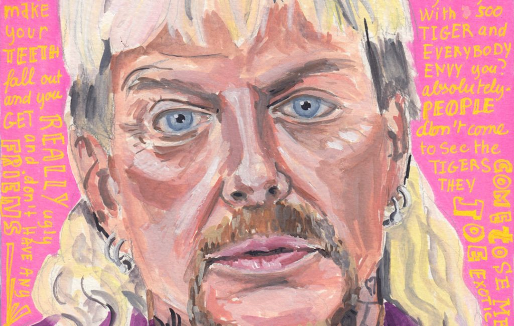Joe Exotic Tiger King daily Portraits by Sophie Peanut