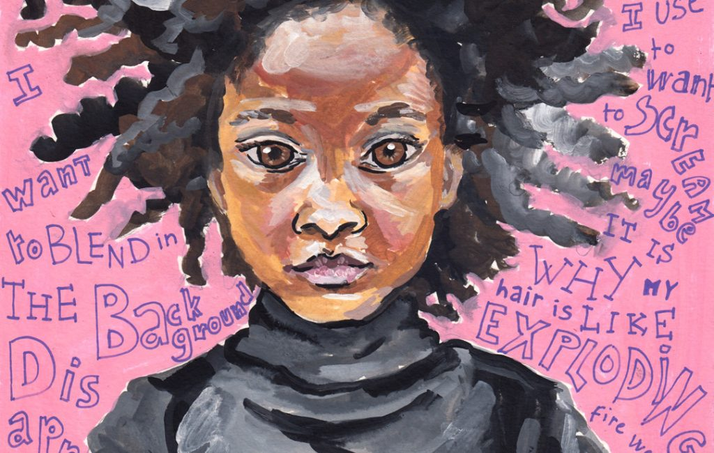 Girl - gouache portrait by Sophie Peanut