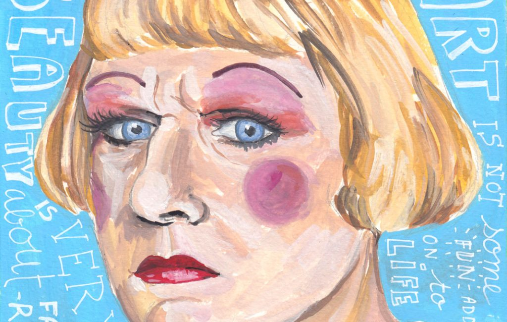 Grayson Perry portrait by Sophie Peanut