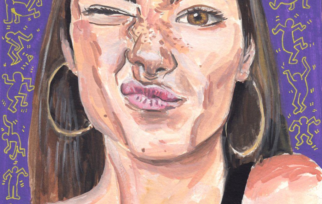 Charli D'Amelio portrait Lockdown art by illustrator Sophie Peanut