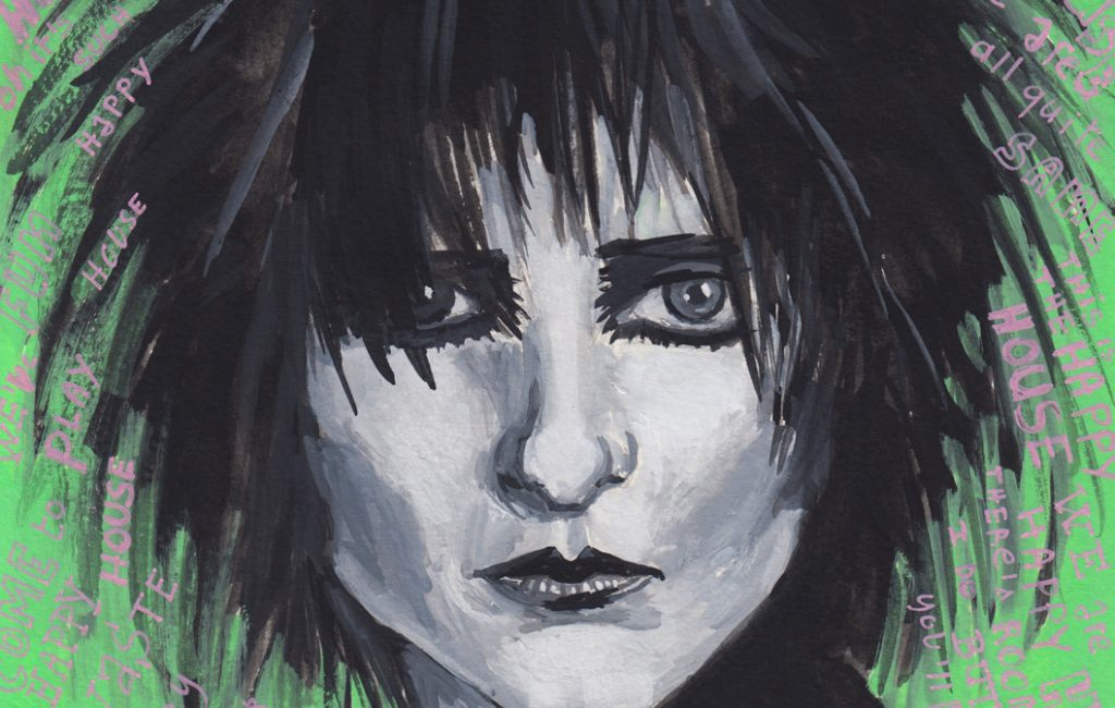 Lockdown art - Siouxsie Sioux painting by Sophie Peanut